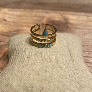 Stella & Dot Turquoise Stone Stacked Ring